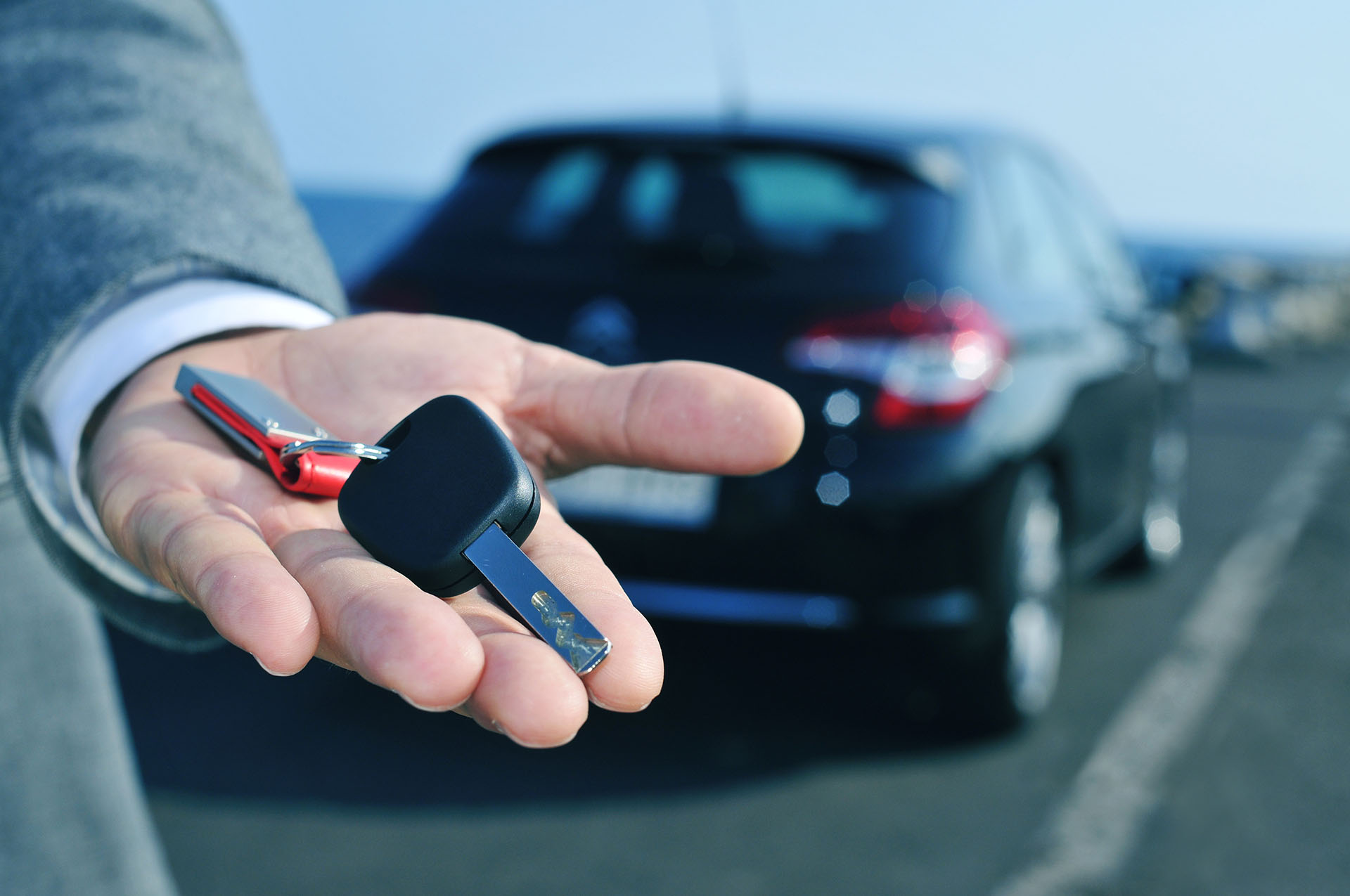 Car keys in a hand
